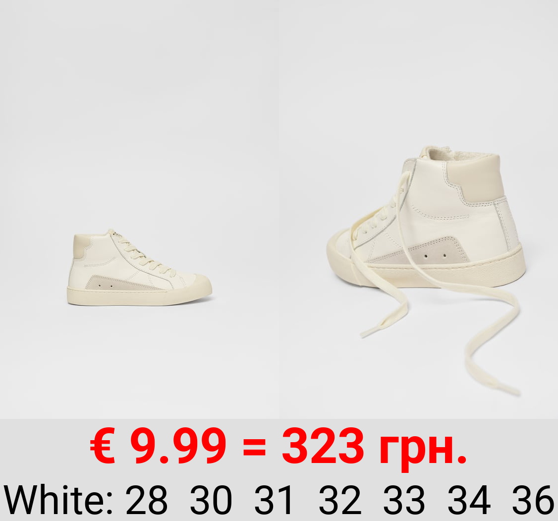 RETRO LEATHER HIGH-TOP SNEAKERS
