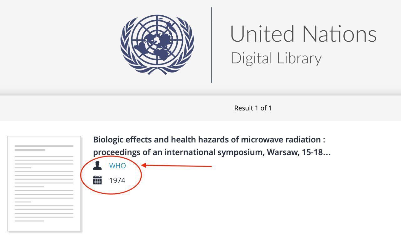 На официальном (!) сайте ООН в каталоге имеется данный документ, что подтверждает существование этого документа, который уничтожен на сайте ВОЗ. Его практически невозможно найти в международных библиотеках. Существует примерно 30 экземпляров копий этого документа в мире. Таким образом, нельзя утверждать, что это подделка, а Конференции не было и что ВОЗ «всего лишь спонсор симпозиума» и не в курсе результатов.