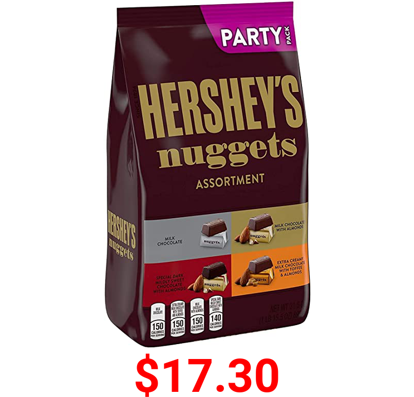 HERSHEY'S NUGGETS Assorted Chocolate Candy, Halloween, 31.5 oz Party Bag