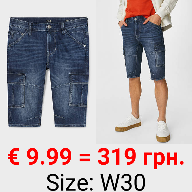 Jeans-Bermudas