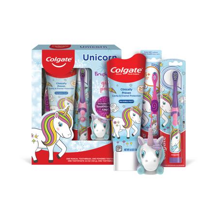 Colgate Kids Toothbrush, Toothpaste, Mouthwash Gift Set - Unicorn