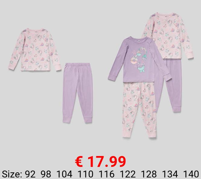 Pyjama - Bio-Baumwolle - 2er Pack