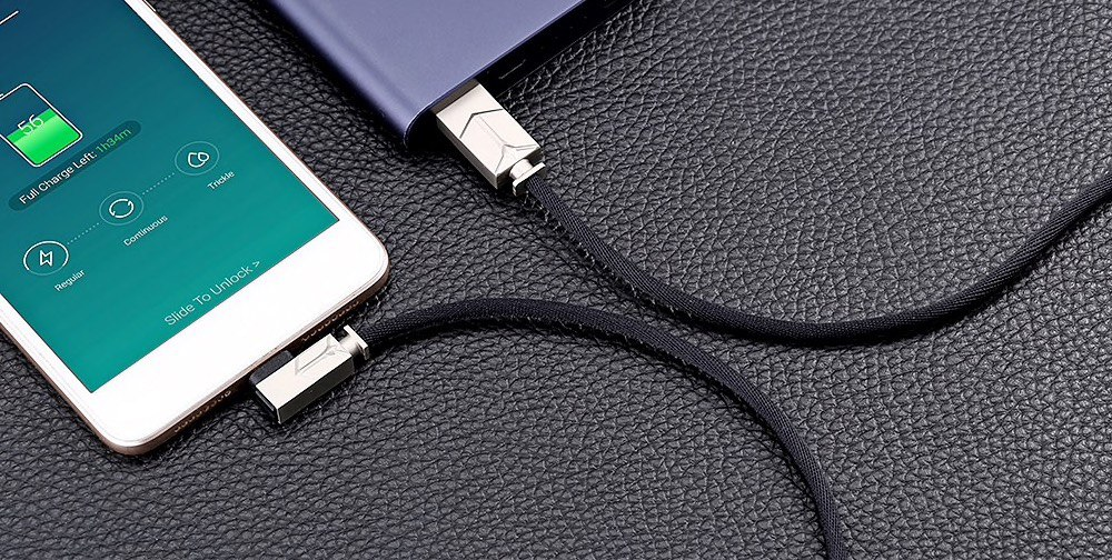 ?gocomma Jeans Fabric 2A Micro USB Cable 1m