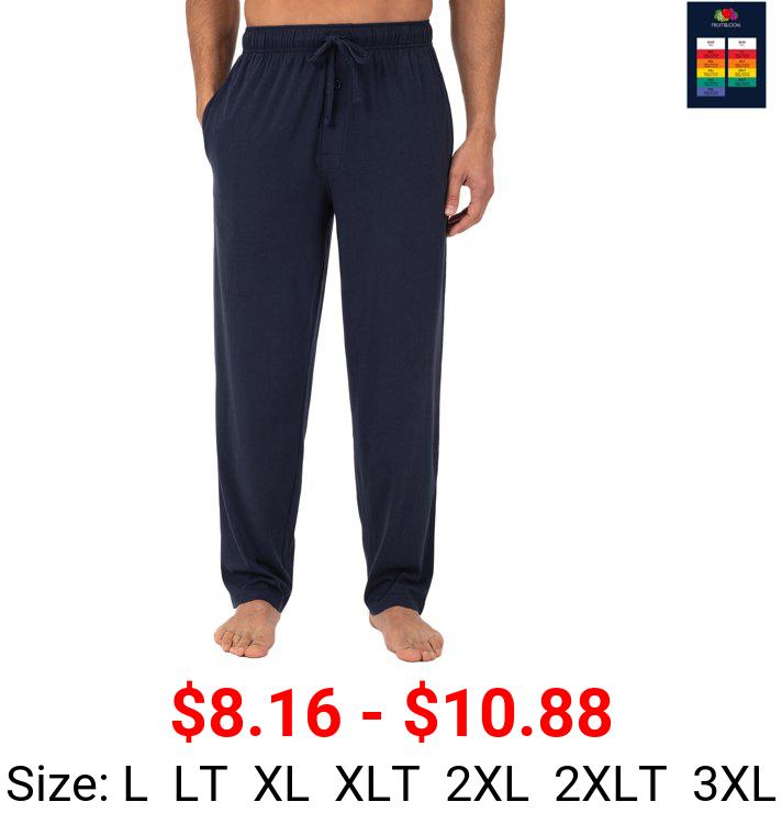 Fruit of the Loom Men's and Big Men's Jersey Knit Pajama Pants