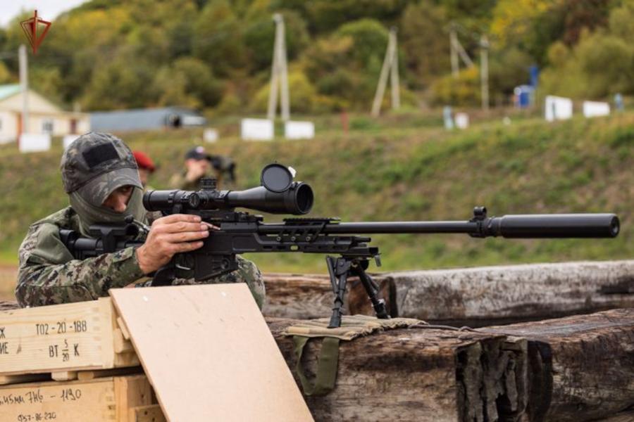 Хабаровский СОБР и ОМОН: стрельба из снайперской винтовки