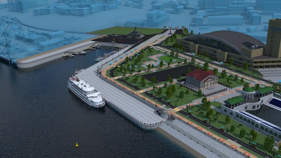 Возобновились работы по реконструкции Хабаровской набережной