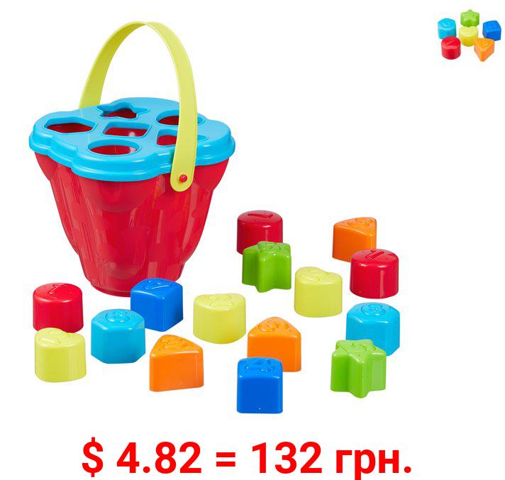 Spark Create Imagine Shape Sorter Bucket Play Set, 16 Pieces