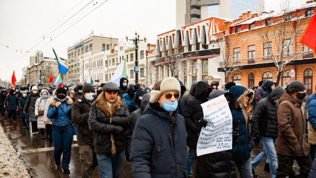 ВХабаровске задержали участника протестных акций за Сергея Фургала