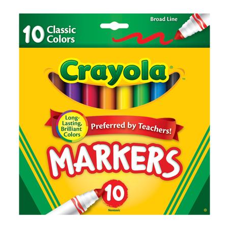 Crayola Marker Set, 10-Colors