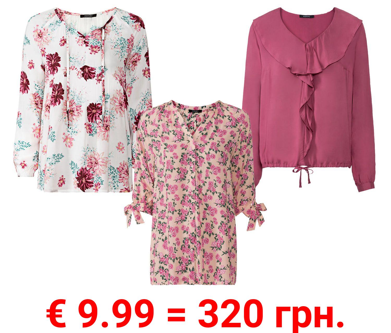 ESMARA® Bluse Damen, aus reiner Viskose