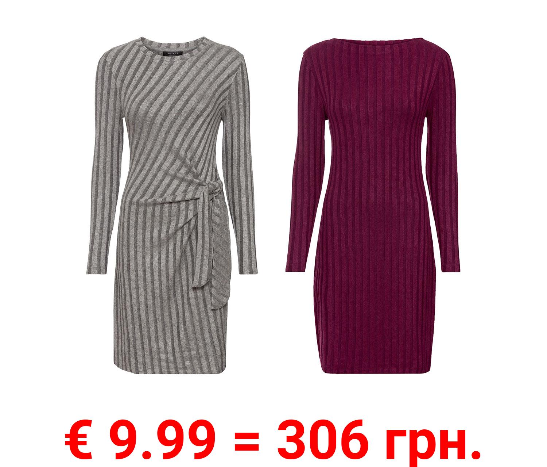 ESMARA® Damen Strickkleid, aus hochwertiger Rippstrick-Qualität