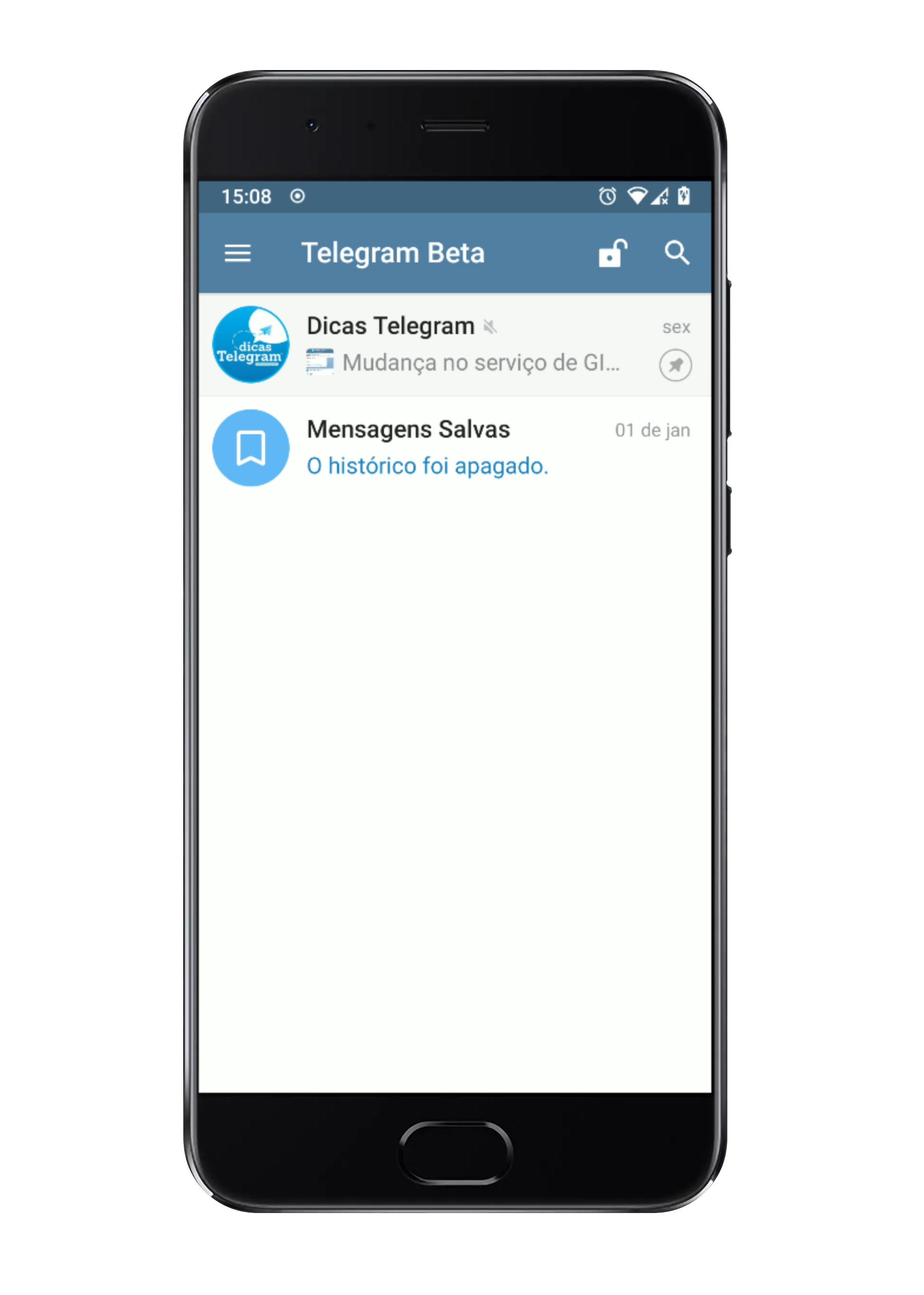 Cadeado para bloquear/desbloquear o Telegram.