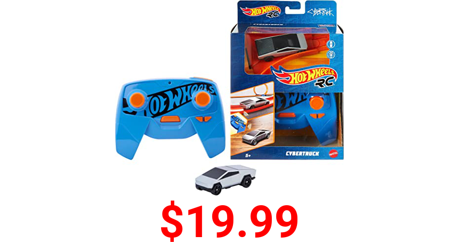Hot Wheels R/C 1:64 Scale Rechargeable Radio-Controlled Racing Cars for Onor Off-Track Play, Includes Car, Controller & Adapter for Kids 5 Years Old & Up
