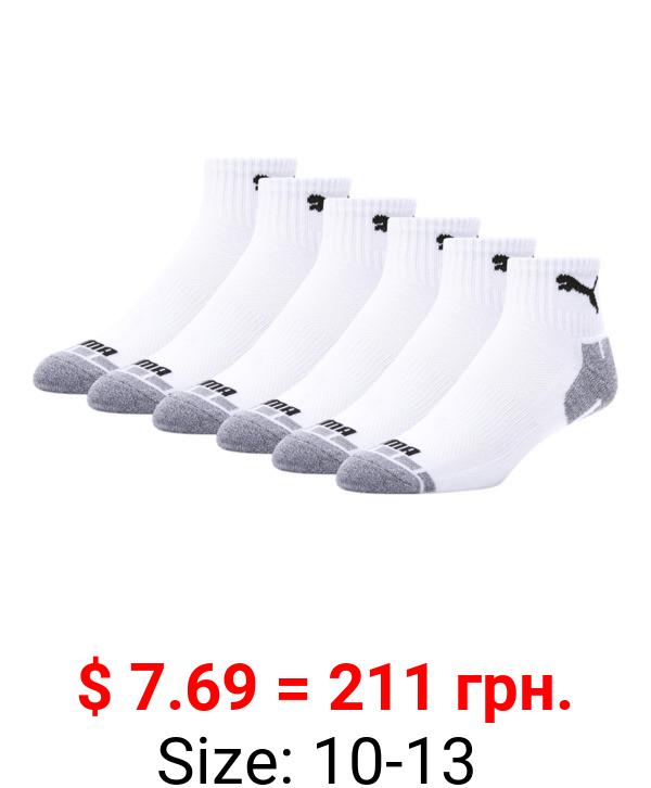 Men's Quarter Crew Cat Socks [6 Pack]