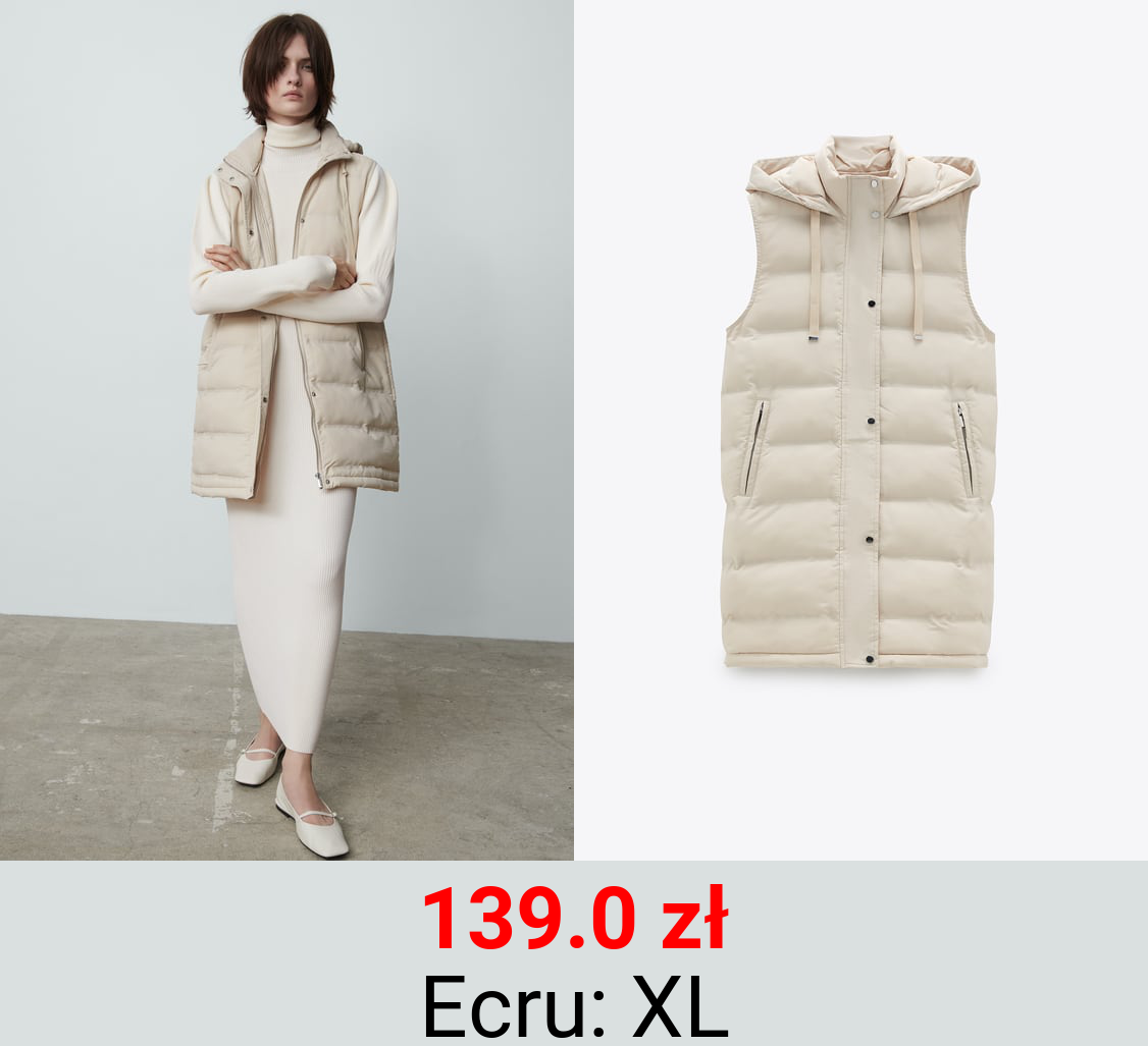 QUILTED GILET WITH WATER AND WIND PROTECTION