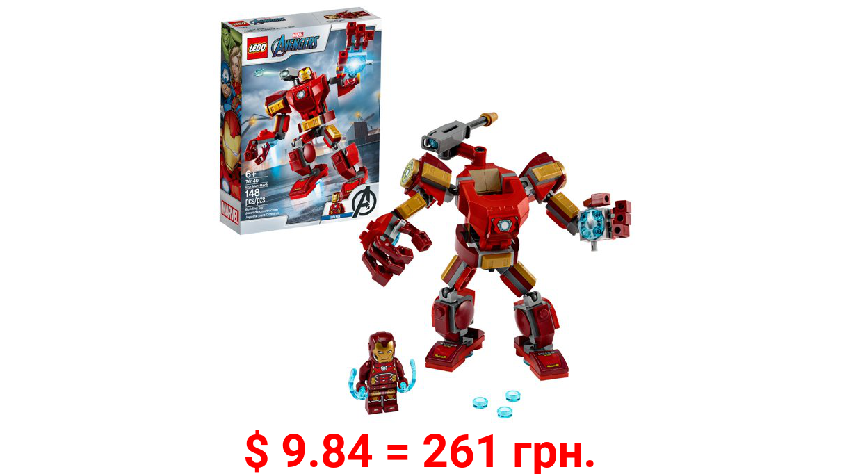 LEGO Marvel Avengers Iron Man Mech 76140 Building Toy with Iron Man Mech and Minifigure (148 Pieces)