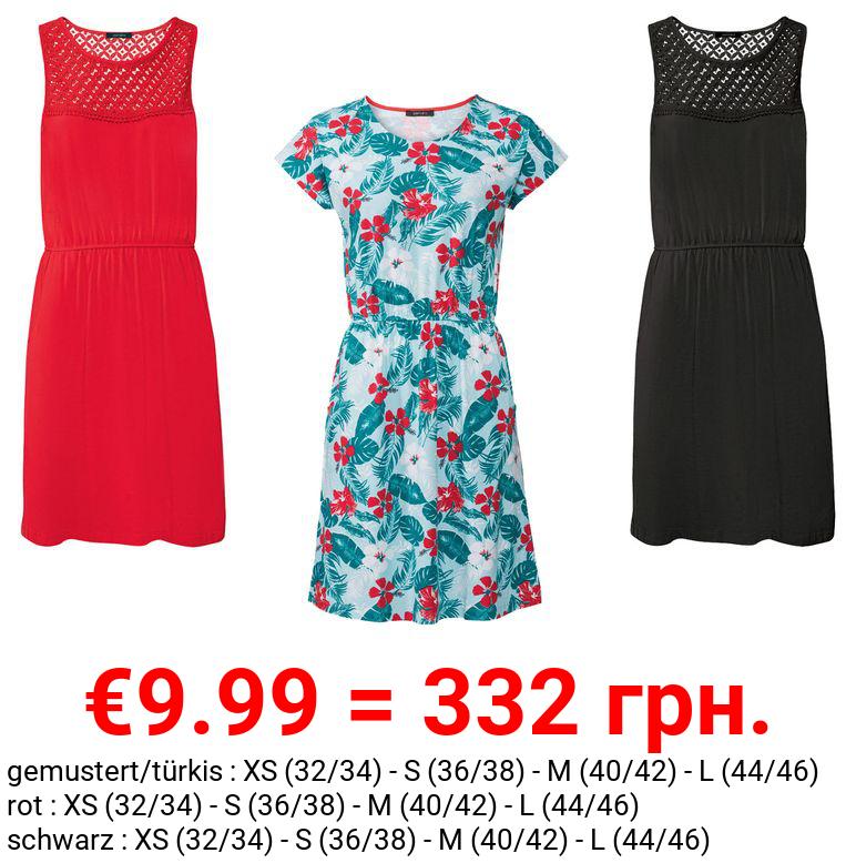 ESMARA® Kleid Damen, mit Gummizug, mit Baumwolle