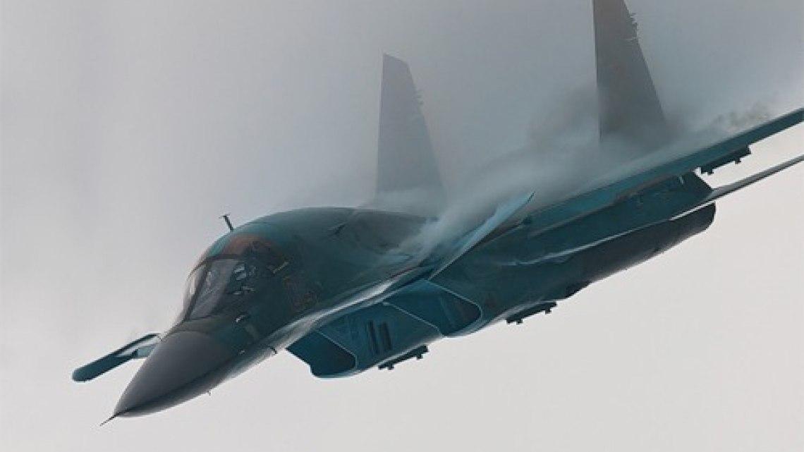 Самолет Су-34 упал в Хабаровском крае