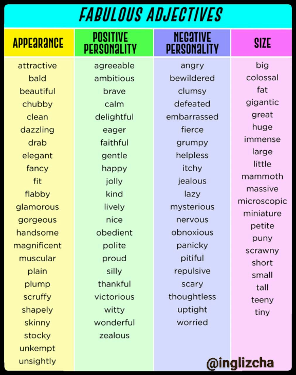 list of adjectives - 576×729