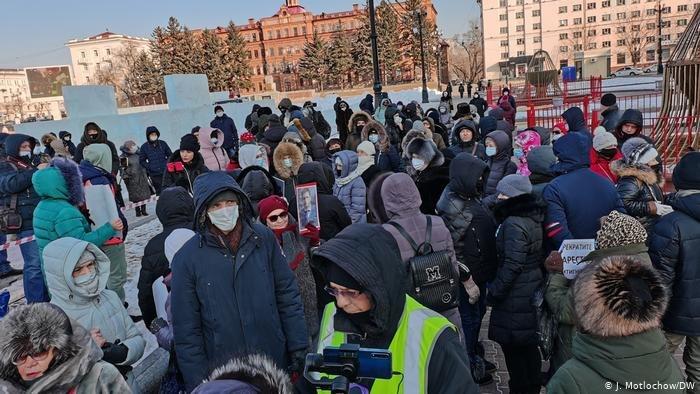 ВХабаровске навыходе изспецприемника задержали участников акций вподдержку Фургала