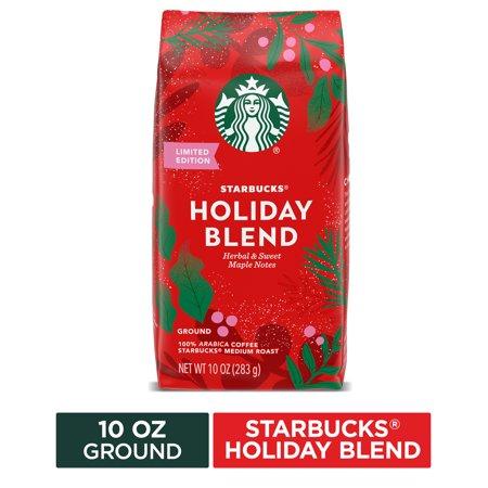 Starbucks Medium Roast Ground Coffee — Starbucks Holiday Blend — 100% Arabica — 1 bag (10 oz)