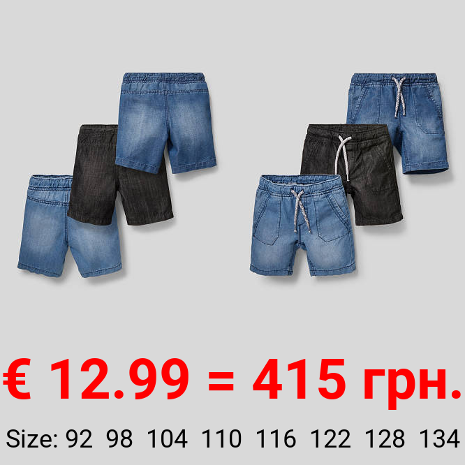 Multipack 3er - Jeans-Bermudas