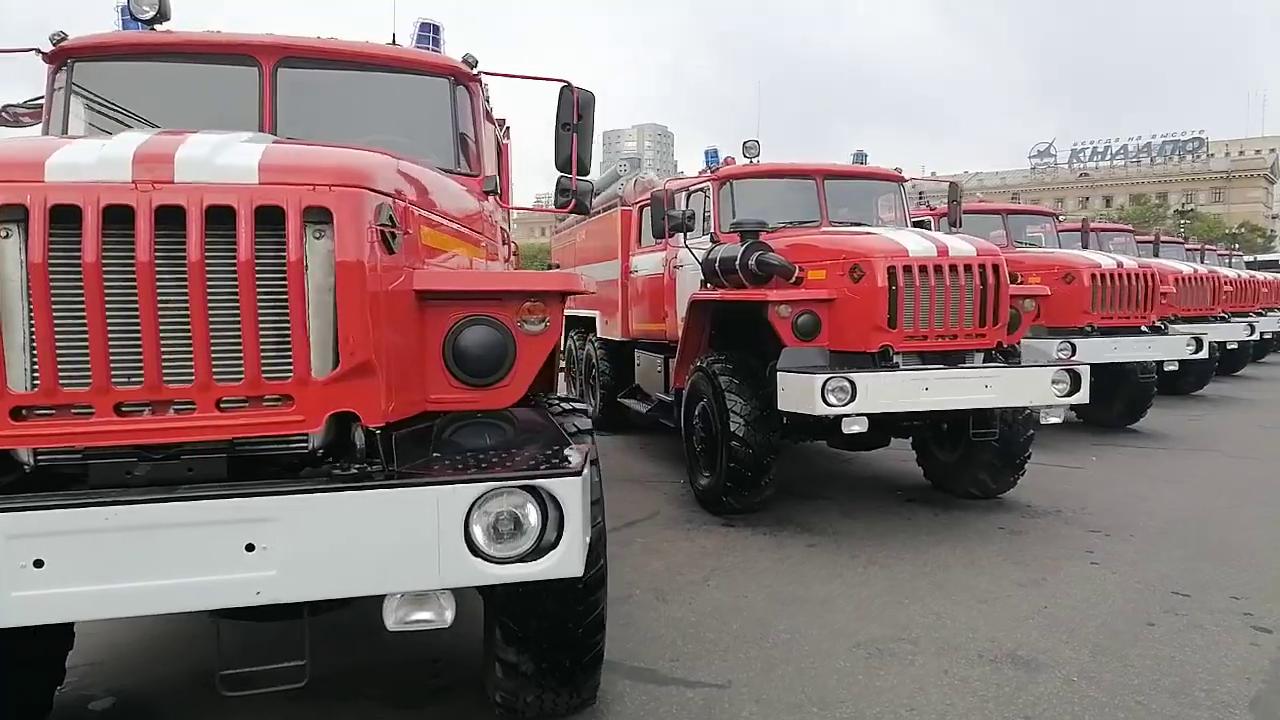 Пожарную технику выставили в Хабаровске