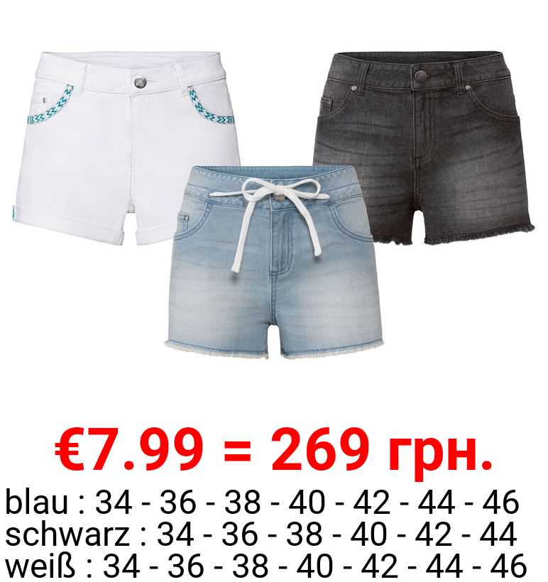 ESMARA® Jeansshorts Damen, im 5-Pocket-Style