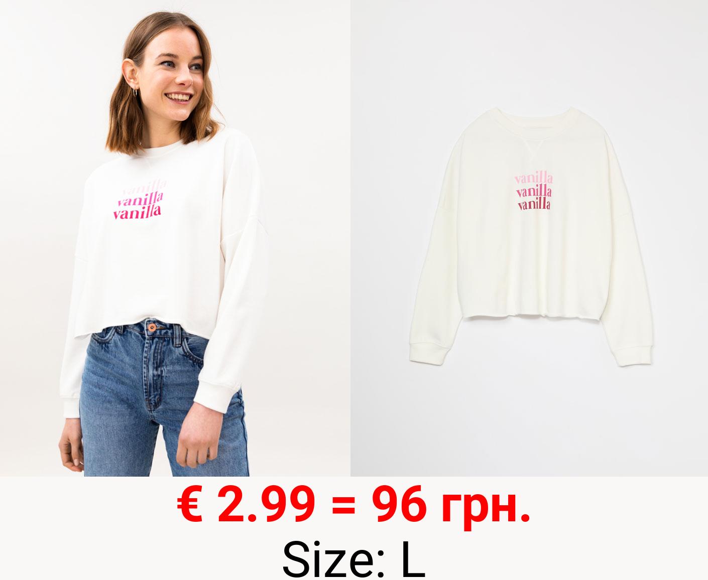 Cropped sweatshirt with print