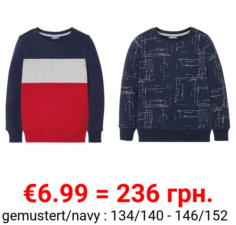 PEPPERTS® Kinder Sweatshirt Jungen, mit Baumwolle