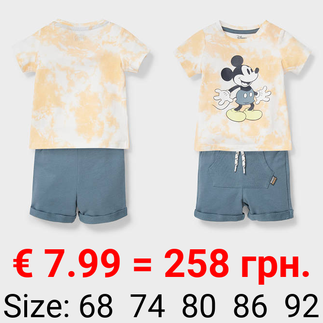 Micky Maus - Baby-Outfit - Bio-Baumwolle - 2 teilig