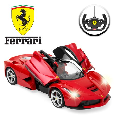 Best Choice Products 27MHz 1/14 Scale Kids Licensed Ferrari Model Remote Control Toy Car w/ 5.1 MPH Max Speed - Red