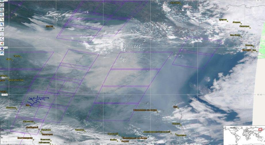 Дым от пожаров в Якутии накрыл север Хабаровского края