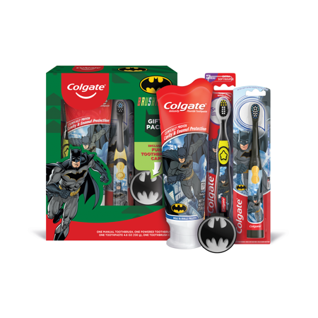 Colgate Kids Toothbrush, Toothpaste, Mouthwash Gift Set - Batman