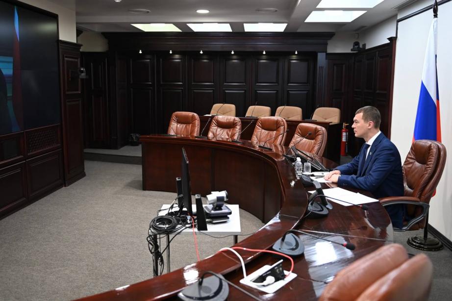 Путин провел онлайн-встречу с Дегтяревым