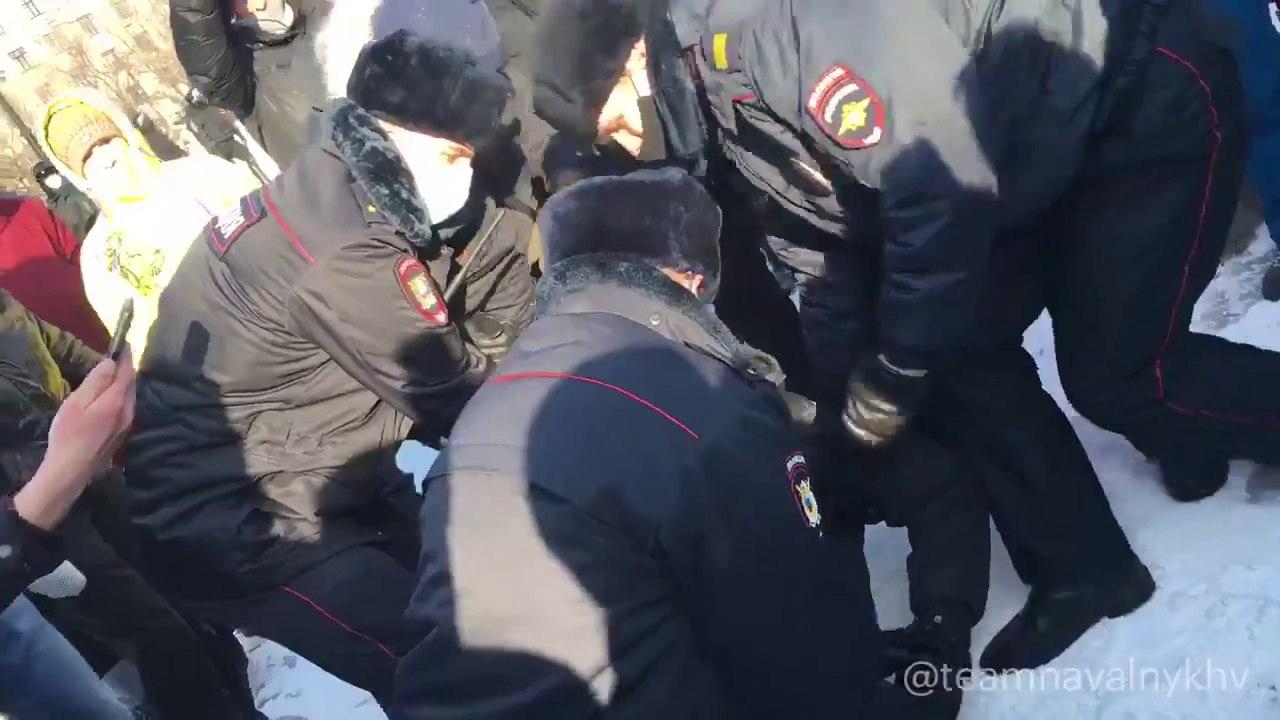 ВХабаровске прошли задержания участников протестных акций