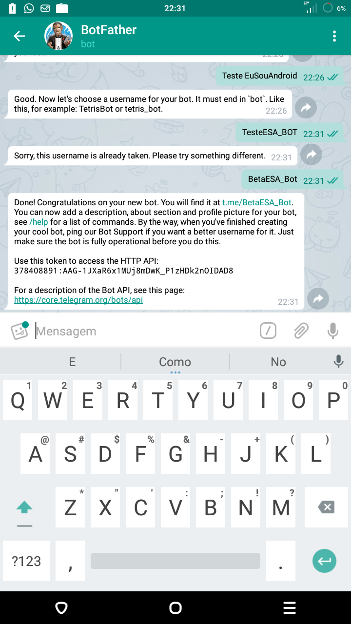 Como Criar um BOT no Telegram e adicionar comandos