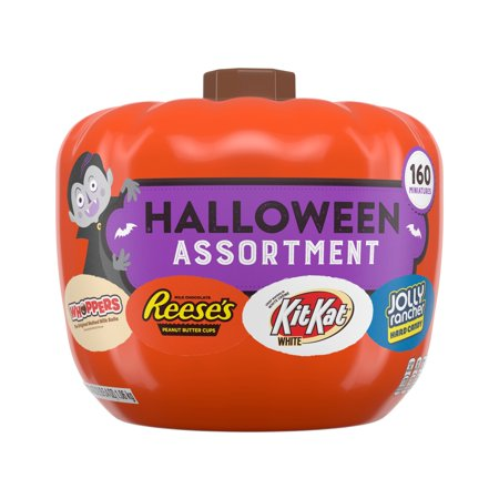 Hershey, Halloween Assorted Pumpkin Bowl Miniatures Candy, 160 Ct.