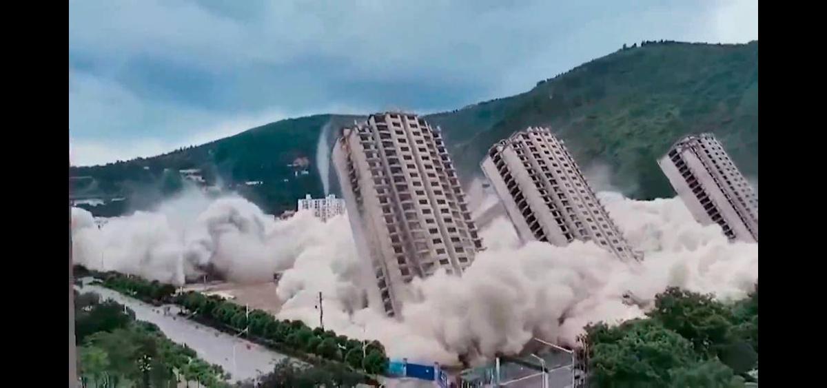 В Китае взорвалися 15 небоскребов