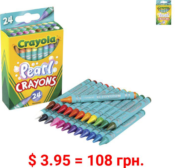 Crayola Pearl Crayons, Multi, 24 / Pack (Quantity)