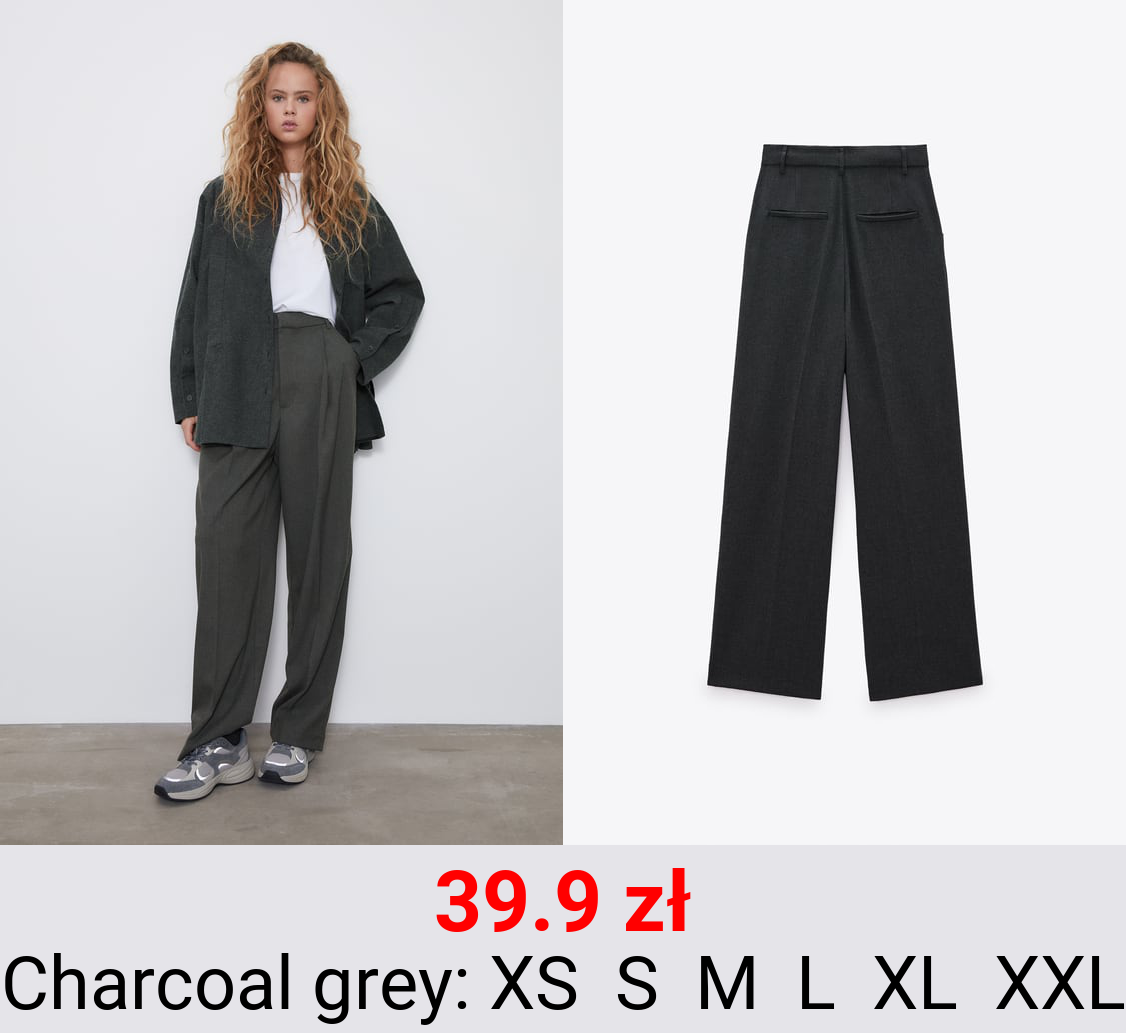 PLEATED MASCULINE TROUSERS