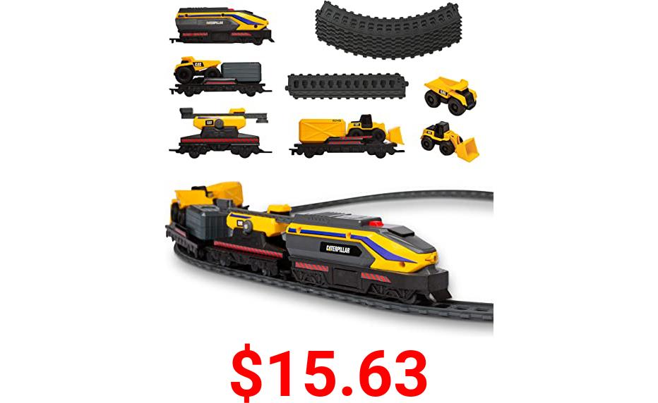 CatToysOfficial 82949 Cat Little Machines Power Tracks Train Set, Multi