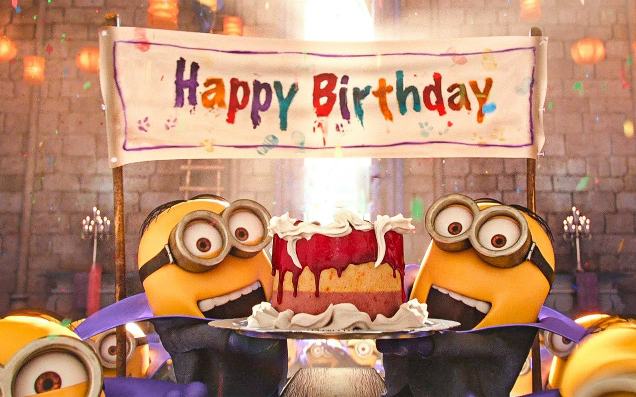 Открытки на день рождения с миньонами