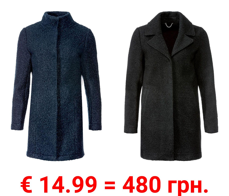ESMARA® Damen Mantel, mit verdeckten Druckknöpfe