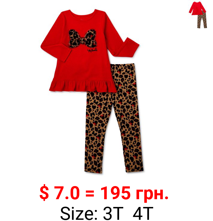 Minnie Mouse Toddler Girls' Bows, 2 Piece Set