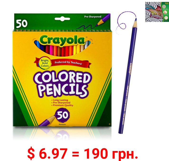 Crayola Colored Pencil Set, 50-Colors