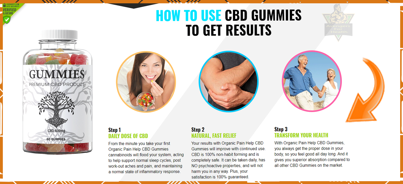 Organic Pain Help CBD Gummies #Joint Pain and Anxiety Relief