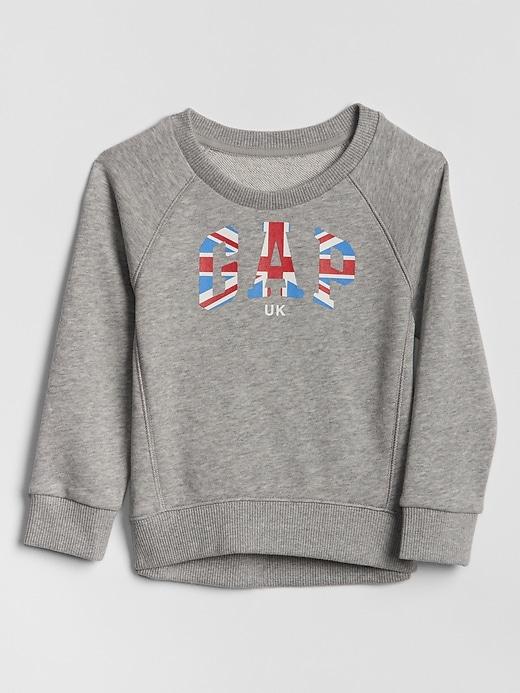 Toddler Raglan Flag Gap Logo Sweatshirt