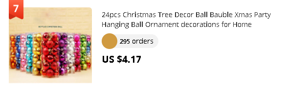 24pcs Christmas Tree Decor Ball Bauble Xmas Party Hanging Ball Ornament decorations for Home Christmas decorations Gift A30816