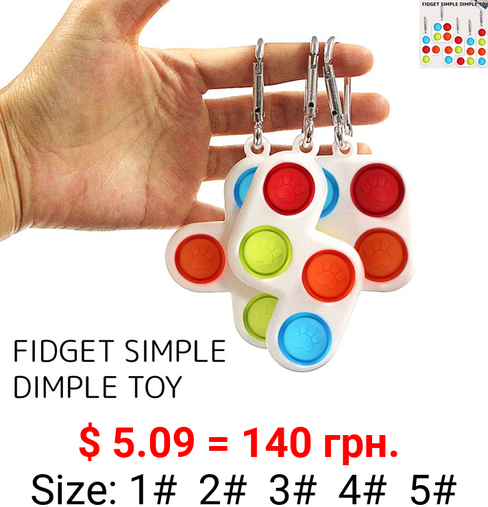 Willstar 5style Fidget Simple Dimple Toy Sensory Educational Toy Keychain Stress and Anxiety Relief